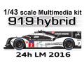 【お取り寄せ商品】 STUDIO27 FD43038 1/43 ポルシェ 919 Hybrid #1/2 LM2016 Winner