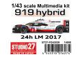 STUDIO27 FD43039 1/43 ポルシェ 919 Hybrid LM2017 Winner