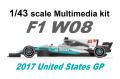 STUDIO27 FD43042 1/43 メルセデス W08 United States GP 2017
