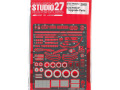 STUDIO27 FP24212 1/24 Nissan R91CP Upgrade Parts for Hasegawa