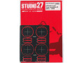 STUDIO27 FP24219 1/24 Gr.C car Tyre Template B (DUNLOP) ~1989