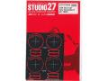 STUDIO27 FP24220 1/24 Gr.C car Tyre Template C (DUNLOP) 1990~