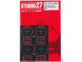 STUDIO27 FP24222 1/24 Gr.C car Tyre Template E (MICHELIN)