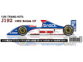 ** 予約商品 ** STUDIO27 TK2029R 1/20 Jordan J192 British GP 1992 Conversion Kit