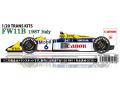 STUDIO27 TK2066 1/20 ウィリアムズ FW11B イタリアGP 1987 トランスキット