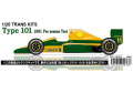 STUDIO27 TK2075 1/20 ロータス T101 1991 Pre season Testトランスキット