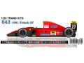 【お取り寄せ商品】 STUDIO27 TK2076 1/20 Ferrari 643 French GP 1991 Conversion Kit