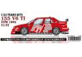 【お取り寄せ商品】 STUDIO27 TK2468 1/24 Alfa Romeo 155 V6TI #1.2 DTM 1994 Conversion Kit