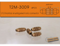 T2M3009 1/12 rhombic knurling electronic connector(4個入り)【メール便可】
