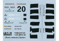 TABUデザイン 20143 1/20 マクラーレン MP4-30 Early season オプションデカール (エブロ対応)【メール便可】