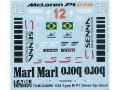 TABUデザイン 24090 1/24 McLaren Senna P1 Dress Up Decal 【メール便可】