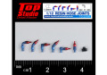 TOP STUDIO TD23187 1/12( 1.6mm) resin hose joints