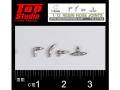 TOP STUDIO TD23188 1/12 (1.2mm) resin hose joints