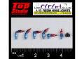 TOP STUDIO TD23189 1/12 (2.0mm) resin hose joints