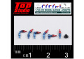 TOP STUDIO TD23195 1/24-20 (1.2mm) resin hose joints