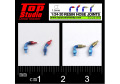 TOP STUDIO TD23197 1/24-20 (1.5mm) resin hose joints