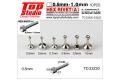 TOP STUDIO TD23220 0.5mm Hex Rivet (A) 【メール便可】
