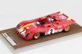 TECNOモデル TM18-61B 1/18 フェラーリ 312 PB デイトナ24時間 1972 優勝車 #2 Andretti/Ickx