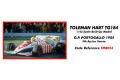 ** 予約商品 ** TAMEO TMB054 トールマン Hart TG184 ポルトガルGP 1984 A.セナ