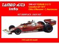 TAMEO kit TMK437 Ferrari 312 T2 Canadian GP 1977 G.Villeneuve / C.Reutemann