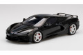 【お取り寄せ商品】 TOP SPEED TS0283 1/18 Chevrolet Corvette Stingray 2020 Black / Midnight Gray Stripe