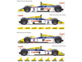 Vector Magic Decals D20-008 1/20 Williams FW11 1986 / FW11B 1987 【メール便可】