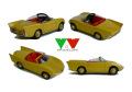 YOW Modellini K084 フィアット アバルト 750 Spider Bertone 1/43キット