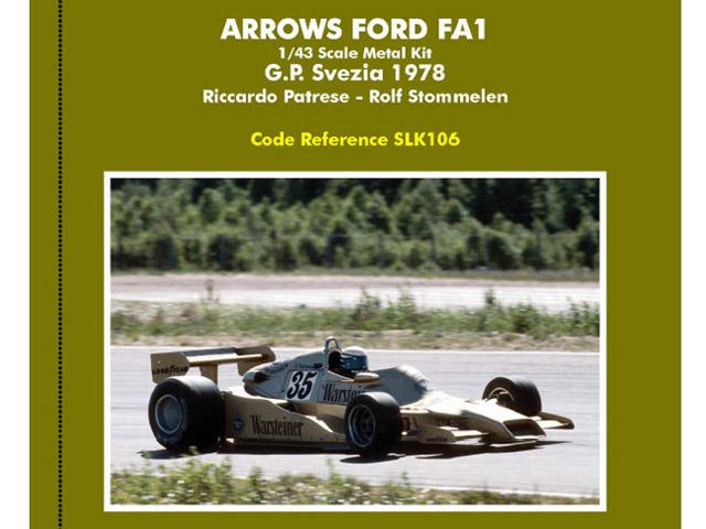 TAMEO SLK106 Arrows FA1 Sweden GP 1978 Patrese /Stommelen