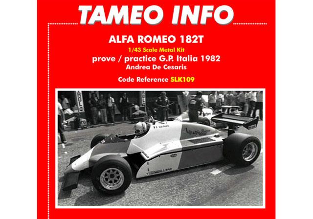 TAMEO SLK109 アルファロメオ 182T Practice イタリアGP 1982 A.チェザリス