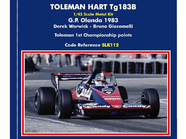 TAMEO SLK112 Toleman Hart TG183B Olanda GP 1983 Warwick /Giacomelli