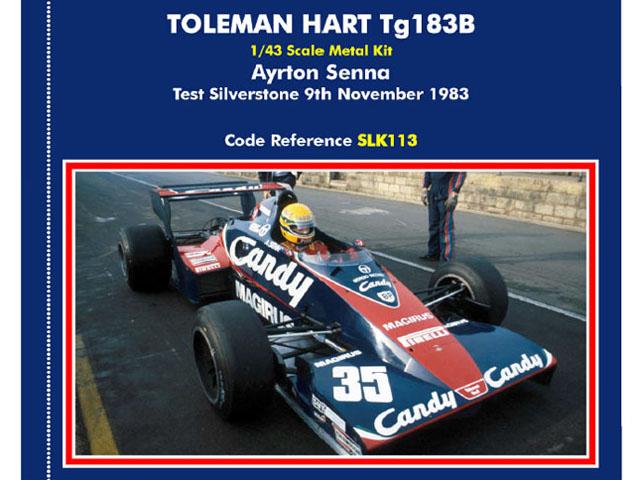TAMEO kit SLK113 Toleman Hart TG183B Test Silverstone 1983 A.Senna