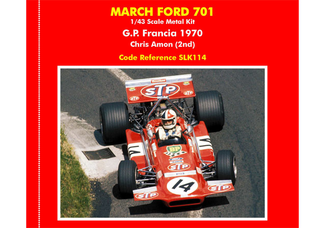TAMEO SLK114 March 701 FranceGP 1970 C.Amon
