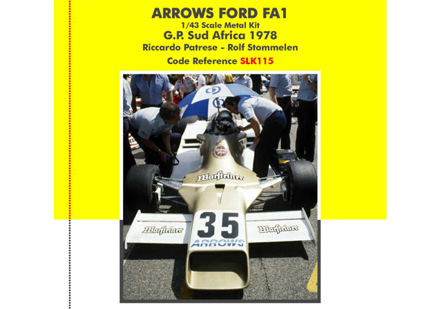 TAMEO SLK115 Arrows FA1 South AfricaGP 1978 Patrese /Stommelen