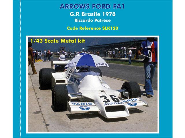 TAMEO SLK120 Arrows FA1 BrasileGP 1978 Patrese