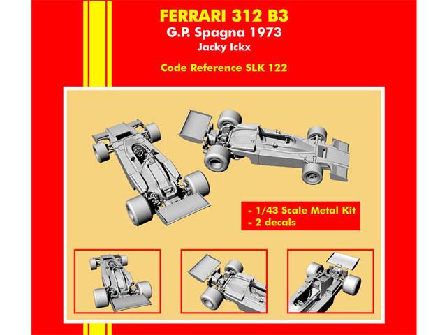 TAMEO kit SLK122 Ferrari 312B3 Spanish GP 1973 J.Ickx