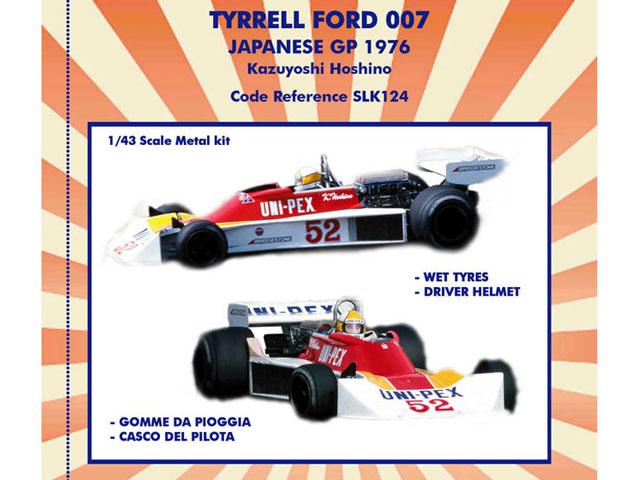 TAMEO SLK124 Tyrrell Ford 007 Japanese GP 1976 K.Hoshino