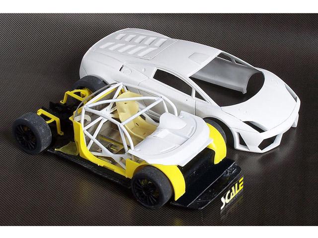 スケールプロダクションTK24047 1/24 ランボルギーニ ガヤルド LP600 GT3 トランスキット フジミ対応
