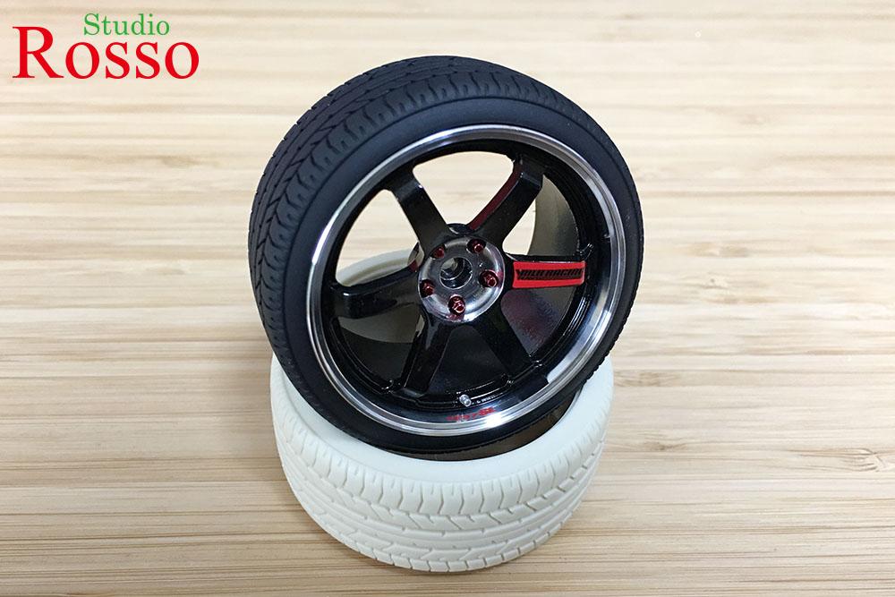 Studio Rosso 1/12 TE37 SL (18インチ) ホイール/タイヤセット for R32 GT-R