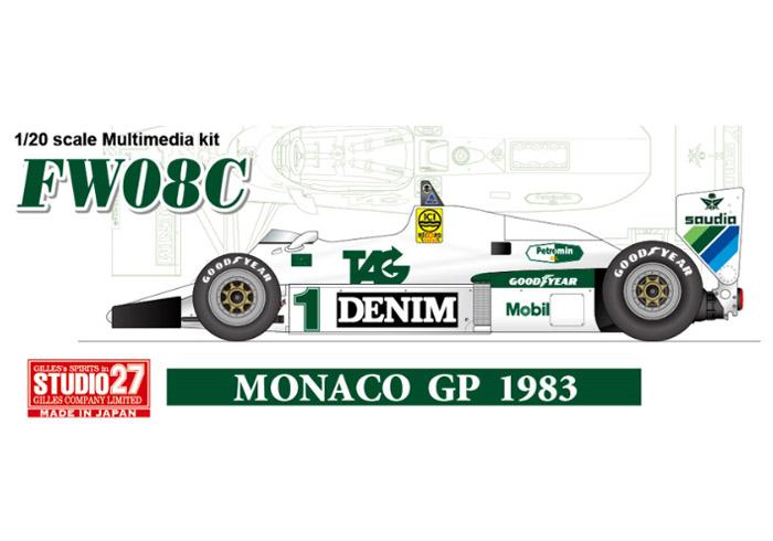 STUDIO27 FD20005 1/20 ウィリアムズ FW08C Monaco GP 1983