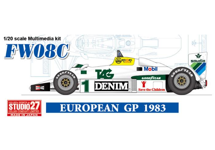 STUDIO27 FD20006 1/20 ウィリアムズ FW08C European GP 1983