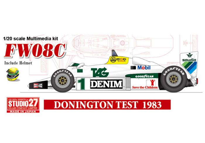 STUDIO27 FD20007 1/20 ウィリアムズ FW08C Test Donington 1983