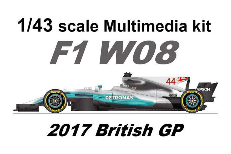 【お取り寄せ商品】 STUDIO27 FD43040 1/43 メルセデス W08 British GP 2017