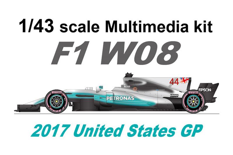 【お取り寄せ商品】 STUDIO27 FD43042 1/43 メルセデス W08 United States GP 2017