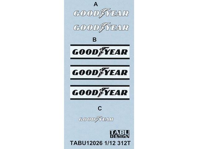 TABUデザイン 12026 1/12 312T タイヤスポンサーデカール【メール便可】