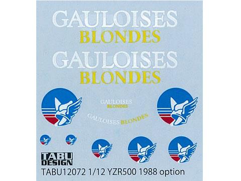 TABUデザイン 12072 1/12 ヤマハ YZR500 1988 GAULOISES オプションデカール 【メール便可】
