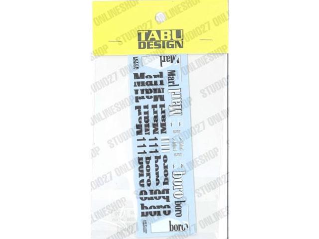 TABUデザイン 20006 1/20 F2000 オプションデカール【メール便可】