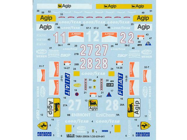 TABUデザイン 20056 1/20 F639-641(F189) フルスポンサーデカール【メール便可】