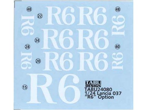 TABUデザイン 24080 1/24 ランチア 037 R6 オプションデカール (ハセガワ対応) 【メール便可】