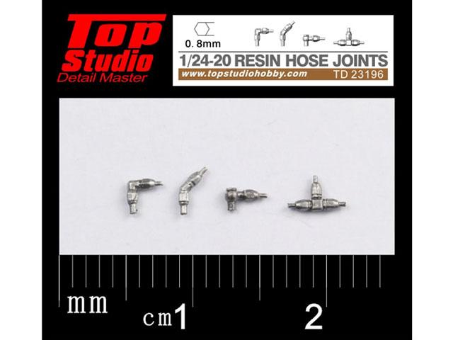 TOP STUDIO TD23196 1/24-20 (0.8mm) resin hose joints