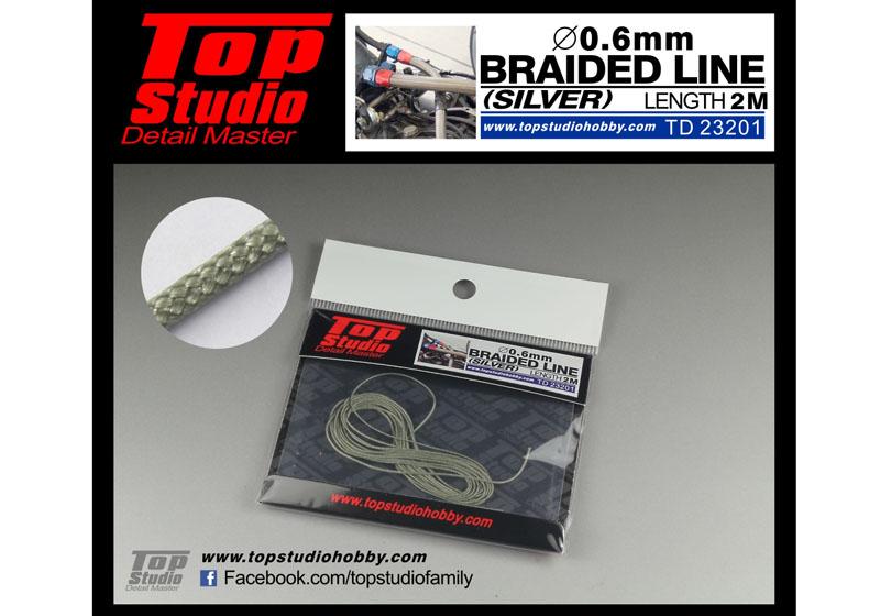 TOP STUDIO TD23201 0.6mm braided line(silver)